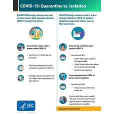 COVID-19 - CDC - Quarantine vs. Isolation