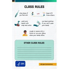 COVID-19 - CDC - K-12 School Posters - Class Rules