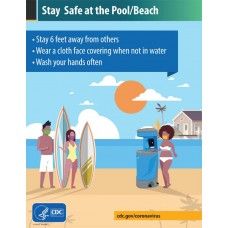 COVID-19 - CDC - Stay Safe at the Pool/Beach (College)