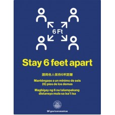 COVID-19 - SFPH - Stay 6 Feet Apart (Multilingual)