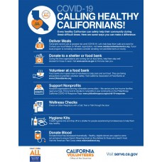 COVID-19 - SMCH - Calling All Healthy Californians