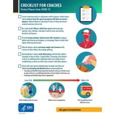 COVID-19 - CDC - Checklist for Coaches