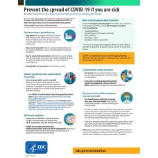 COVID-19 - CDC - Sick with COVID-19 Fact Sheet