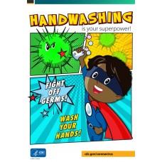 COVID-19 - CDC - Superhero Handwashing Poster